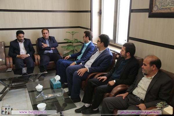 دیدار فرماندار بافق با رییس دادگستری و برخی از قضات و مسئولان